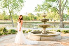 Heartland Place, 81 Ranch, Enid, Oklahoma. Bridal Portrait in fron of lake. Photo courtesy of Holly Gannett Photography