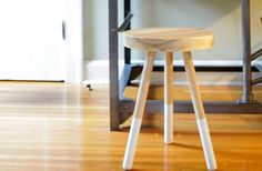 Dining Stool  White Ash by solidmfgco on Etsy, $250.00