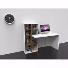 escritorio melamina con biblioteca u organizador