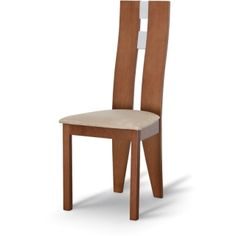 Drevená stolička BONA, čerešňa/látka béžová Dining Chairs, Room, Furniture, Home Decor, Chairs, Luxury, Bedroom, Homemade Home Decor, Rooms