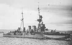 HMS Curacoa, British light cruiser, WW2