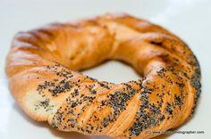 Polaco rollo de pretzel comida especial llamada Bajgel popular en Cracovia Cracovia o área Polonia