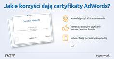 Poznaj korzyści z uzyskania certyfikatu AdWords!