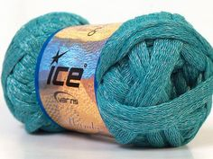Turquoise Chunky Cotton Arm Knitting Yarn Light by TheSnugglery