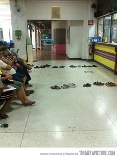 Queue level: extreme laziness…