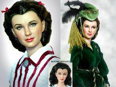 Scarlett O'hara doll repaint by noeling.deviantart.com on @deviantART