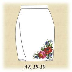 Заготовка к юбке Цветные маки АК 19-10 Д