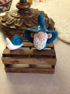 Pickle Hollow Gnome and his Snail polymer clay