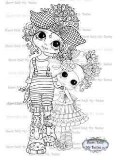 INSTANT DOWNLOAD Digital Digi Stamps Big Eye Big Head Dolls Digi My Besties My Girls By Sherri Baldy