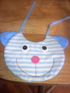 Handmade baby bib - cat.....$10