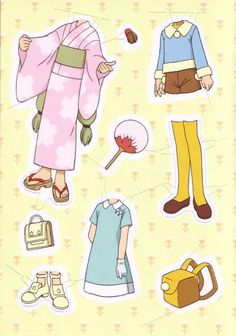 Sakura paper dolls