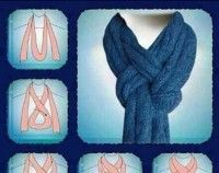 How to Tie a Scarf #scarf #howto