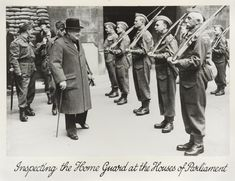 Churchill inspecting the Parliamentary Home Guard