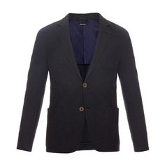 Giorgio Armani Cloqué tailored jacket ($1,768) ❤ liked on Polyvore featuring men's fashion, men's clothing, men's outerwear, men's jackets, navy, mens slim jacket, mens slim fit jacket and old navy mens jackets