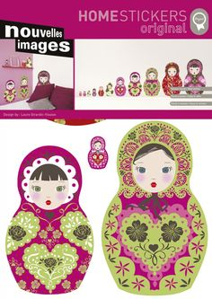 Love love love the russian doll wall decals!