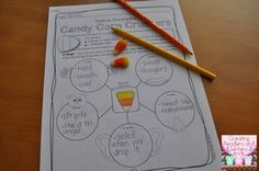 Creating Readers and Writers: Halloween Science: Part 4 {Candy Corn Crushers!}