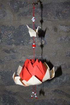 Flor de Lotus em Origami by PaperPaste on Etsy