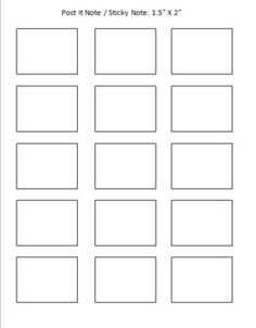 Post It Note Sticky Printing Template Freebie Angela Crescenzo Teacherspayteachers