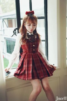picture of Classic Pinafore Dress 1 Date Outfit Summer, Date Outfits, Spring Outfits, Cool Outfits, Kawaii Fashion, Lolita Fashion, Cute Fashion, Fashion Outfits, Japanese Fashion