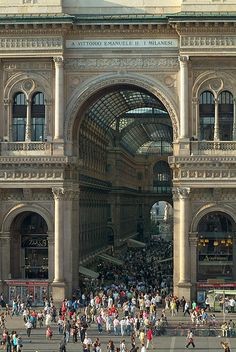 The Galleria Vittorio Emanuele II is the world's oldest shopping mall. Housed within a four-storey double arcade in central Milan, the Galleria is named after Vittorio Emanuele II, the first king of the Kingdom of Italy