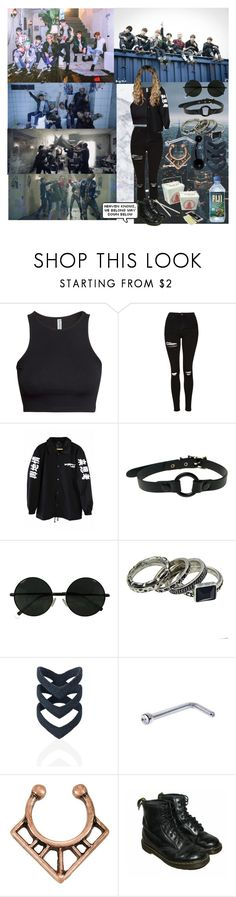 """""""Music Video Run by BTS"""" by threedaystoremember ❤ liked on Polyvore featuring H&M, Topshop, Club Exx, The Rogue + The Wolf, Hot Topic and Dr. Martens"""
