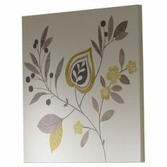 Refresh your study or hallway with this floral wall art, showcasing hints of chartreuse. Mount alone against neutral walls to create a statement or pair with several prints for a gallery-style display.  Product: Wall artConstruction Material: Polyester-cotton canvas and pinewood   Features: Coordinating home accents available  Dimensions: 60 cm H x 60 cm W x 5 cm D