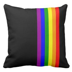 Loving the beautiful color combination on this #lgbtthrowpillow. Plus, the placement of the #lgbt symbol adds a nice effect. Ideal for #gaypride gifts or a cool, rainbow throw pillow decor.