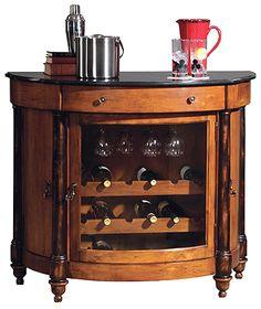 Console Bar Cabinet w Wine Rack