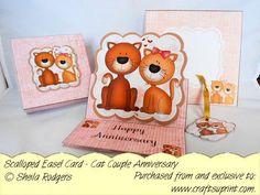 Carolyn's handmade treasures. triple circle christmas easel card