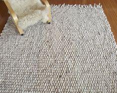 Area Rug Wool Rug Chunky Handmade Rug Super Bulky Woven Carpet, Floor Rug Living room rug, Home Decor Rugs Living Room Area Rugs, Room Rugs, Unique Rugs, Modern Rugs, Jute Rug, Woven Rug, 8x10 Area Rugs, Modern Rustic Homes, Chunky Wool