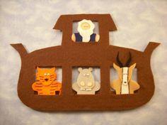 Other: Noah's Ark Finger Puppets Pattern  6,50  vielleicht als Buch wie beim Häschen- aber nciht filz sondern stoff und Klett??