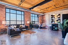 What actually is the loft apartment must be the start point before designing a loft apartment. Are you really seeking for a loft apartment or just the feeling of long living? Brick Feature Wall, Brick In The Wall, Toronto Lofts, Downtown Toronto, Antique French Doors, Lofts For Rent, Exposed Brick Walls, Stone Walls, Brick Loft
