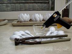 Windlicht ganz einfach selber machen DIY Anleitung mit Plastiklöffeln