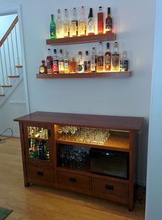 Transform an ugly old Entertainment Center into a cool Sideboard Bar. Back in the late '90s and early 2000s, you probably had a television set with a cathode ray tube in it. These TVs were bulky eyesores, so many peop...
