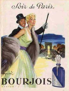 Soir de Paris Bourjois 1955 affiche de Raymond
