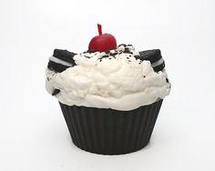 Jumbo Cookies and Cream Cupcake Candle by CandlelitDesserts, $9.00