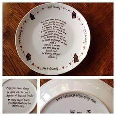 The Giving Plate with my contact info on back. What a fantastic client gift/pop by idea!