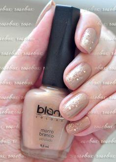 esmalte Blant morro branco + nail art