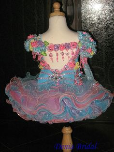 Infant cupcake style pageant dresses