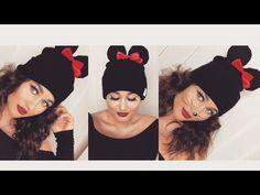 DIY Minnie Mouse Mütze + schnelles Make up für Halloween I Marina Si - YouTube