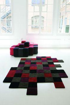 Do-Lo-Rez 1 Azules – Design Rugs – Nanimarquina Ron Arad, Contemporary Rugs, Contemporary Furniture, Flexible Furniture, Unique Flooring, Space Interiors, Textiles, Residential Interior Design, Gray