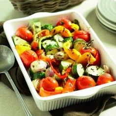 Grilled vegetables from the oven Grilled Vegetables, Veggies, Slow Cooker, Healthy Tips, Healthy Recipes, Curry, Oven Dishes, Vegan, Smoothie Recipes