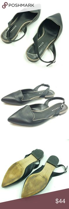 Trouve pointed toe ankle strap flats Size 8.5 Trouve pointed toe ankle strap flats Size 8.5   Black leather Size 8.5  No flaws Trouve Shoes Flats & Loafers
