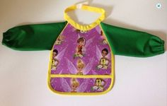 New to Sewdivine77 on Etsy: Water resistant Tinkerbell bib with sleeves (10.00 USD)