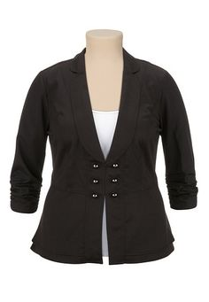 3/4 Sleeve Military Blazer (original price, $54) available at #Maurices