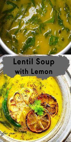 Chickpea And Tomato Recipe, Lemon Lentil Soup Recipe, Spinach Lentil Soup, Red Lentil Recipes, Red Lentil Soup, Best Soup Recipes, Lentil Curry, Dinner Recipes, Lentils Instant Pot