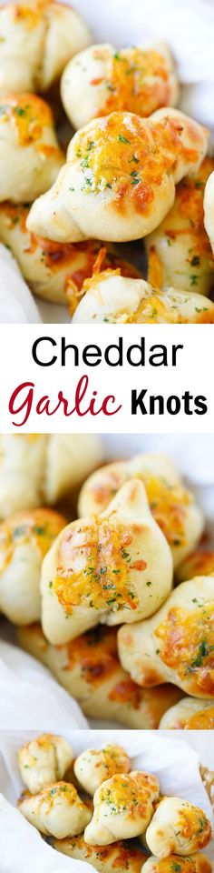 Cheddar Garlic Knots – cheesy, buttery garlic knots that anyone can make at home as a side dish, takes only 20 minutes from prep to dinner table!! | rasamalaysia.com