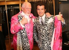 Don Cherry suit collection.with Rick Mercer Ornette Coleman, Don Cherry, Suits For Sale, Hockey Players, Blue Bird, Nhl, Gentleman, My Style, Canada