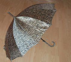Automatic STOCKSCHIRM ø95cm Leopard-gold 87cm Windproof Regenschirm Schirm 1018 | eBay 16,06