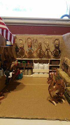 Tack room I made for Mackenzie's miniatures